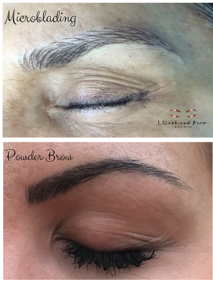 Microblading la lash and brow studio book today 727 for Eyebrow tattoo aftercare instructions